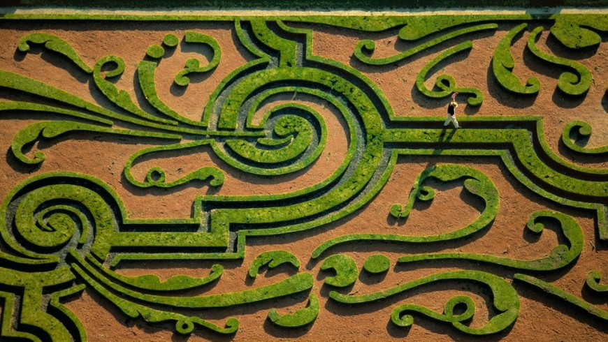 labyrinthe du château de Vaux-le-Vicomte