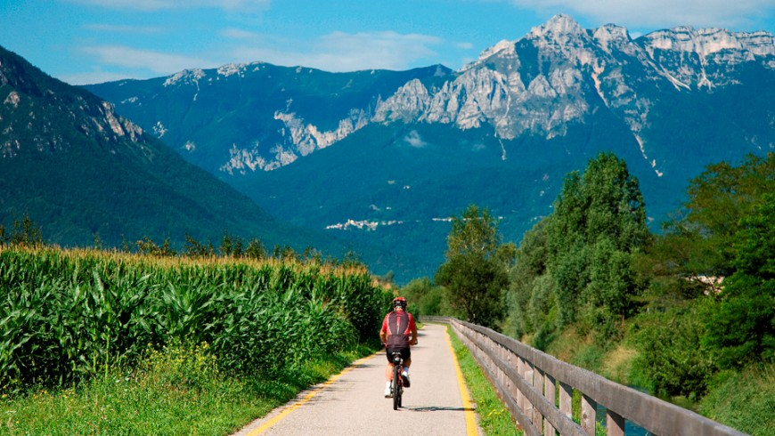 La piste cyclable de la Valsugana