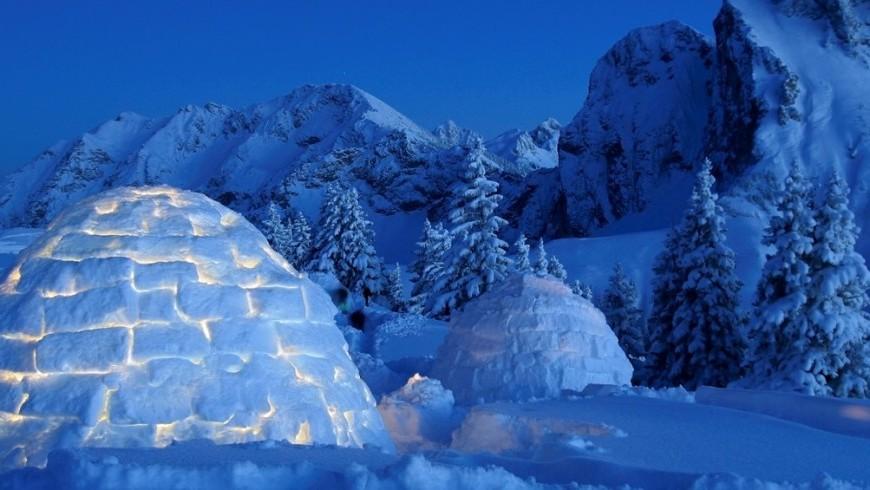 cadeau: Offrir une vacance sur la neige avec une nuit dans un igloo