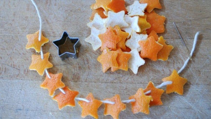 idées avec les écorces d'orange