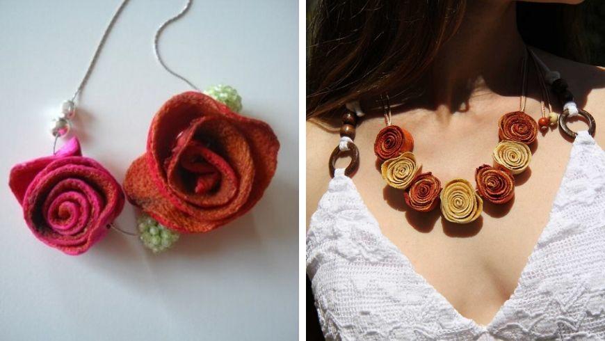bijoux avec les écorces d'orange idées
