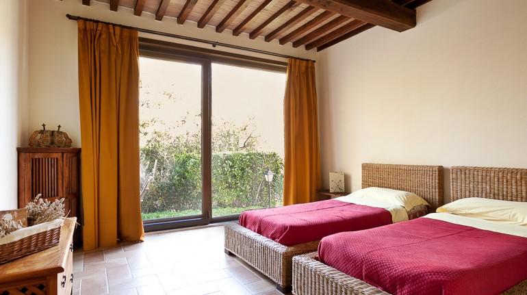 maison dans les collines toscanes