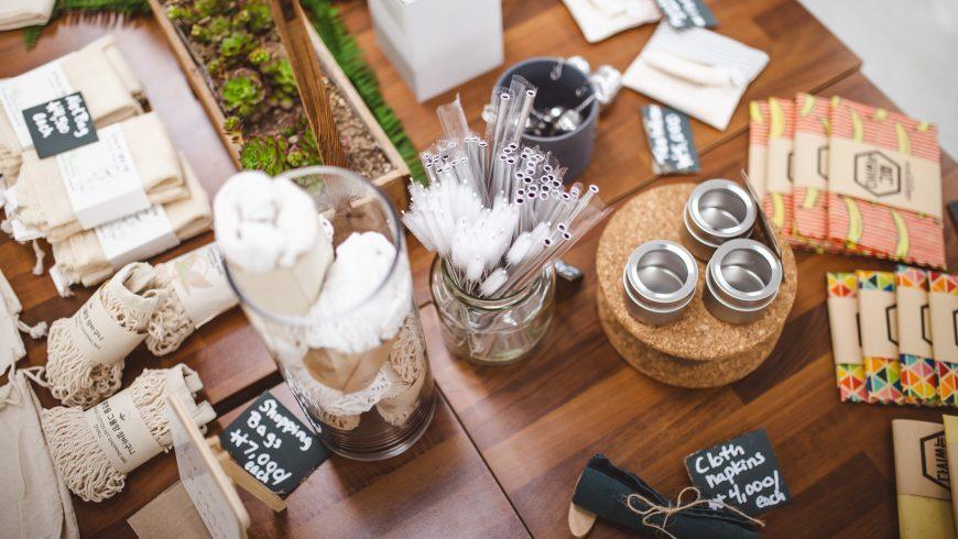 Produit écologiques sur la table